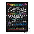 Back to School Faux Chalk Board